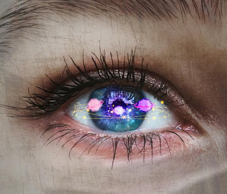 #freetoedit #eye #galaxy #planets #creation #heyo