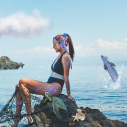 echumananimalhybrid humananimalhybrid freetoedit mermaid fish