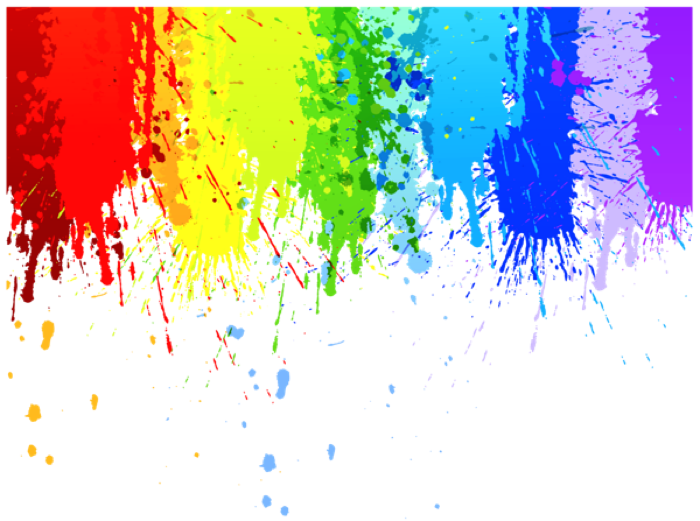 Splash Watercolor Rainbow Colorful Tumblr Aesthetic Brush Paint