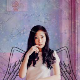 freetoedit woman galaxy wings zodiac