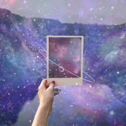 freetoedit ircpolaroidphoto polaroidphoto galaxy polaroid