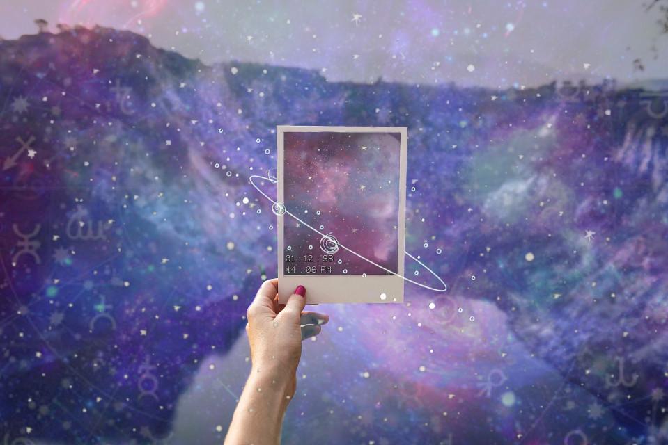 #freetoedit #ircpolaroidphoto #polaroidphoto #galaxy #polaroid #zodiac