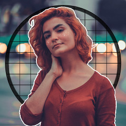 freetoedit girl circle woman red