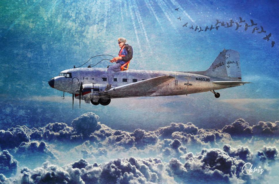 #freetoedit #myedit #madewithpicsart #grandfather #surreal #flying