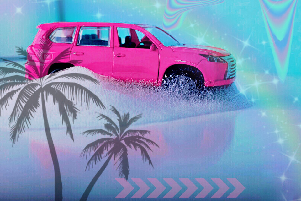 """""""Every time that you lose it sing it for the world""""🌺✨☀️ #freetoedit #remixed #summer #summervibes #tumblrstickers #palmtrees #pink"""