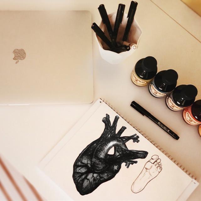 #art #artist #design #designstudent #passion #heart