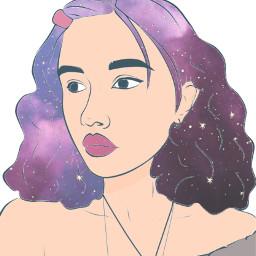 ircoutlineaesthetics outlineaesthetics freetoedit girl drawing