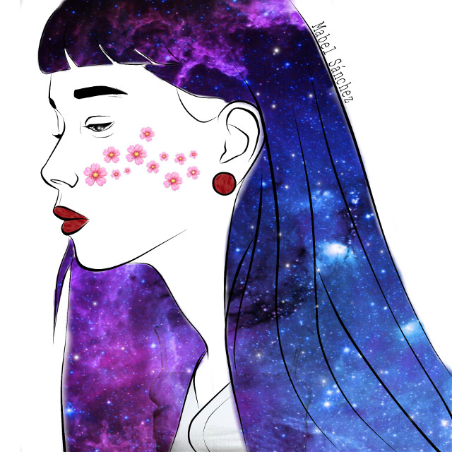 #freetoedit #girl #galaxy