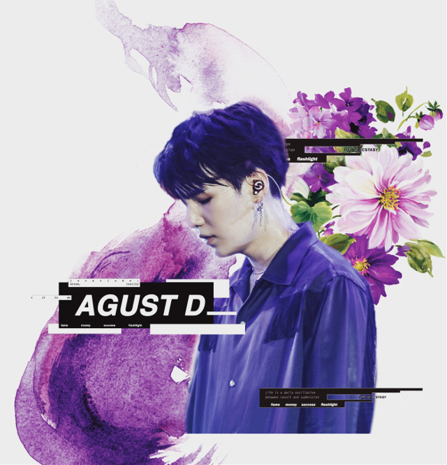 #freetoedit #suga #yoongi #bts #agustd #atothegtotheutothestd #dboy #kpop #korean #interesting #rapper #interesting #aesthetic #vibe #cool #look #lavender #violet #indigo #daebak