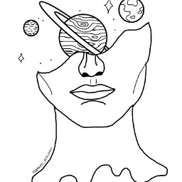 freetoedit dibujo galaxia universo planetas