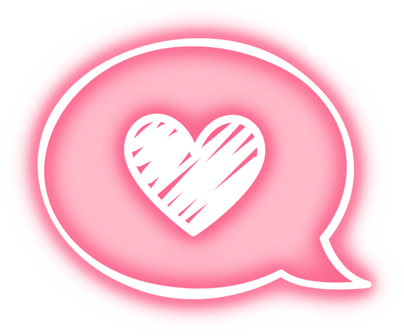 Message Heart Pink Overlay Tumblr Cute Kawaii Neon Ligh