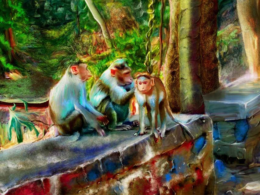 #mydrawing #digitalpainting #monkey #animals #forest