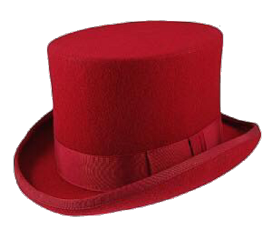 hat tophat formal red accessories freetoedit