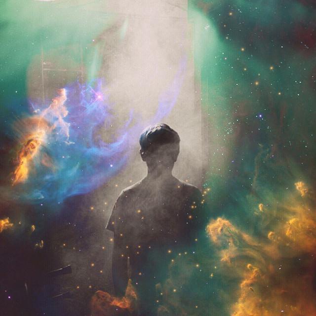it feels so scary gettin old -lorde  #freetoedit #madewithpicsart #art #digitalart #starry #galactic #nebula #stars #boy #alone #interesting #art #colorful #fx #remixed #golden #blue #grey #colors