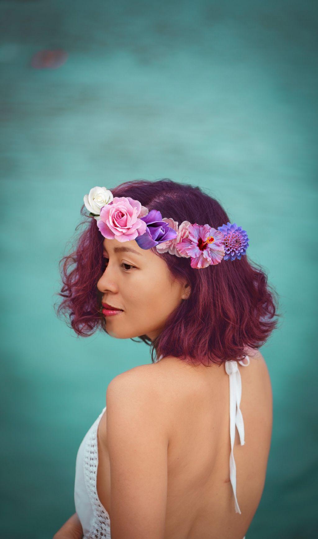 #freetoedit #flower crown #summertime