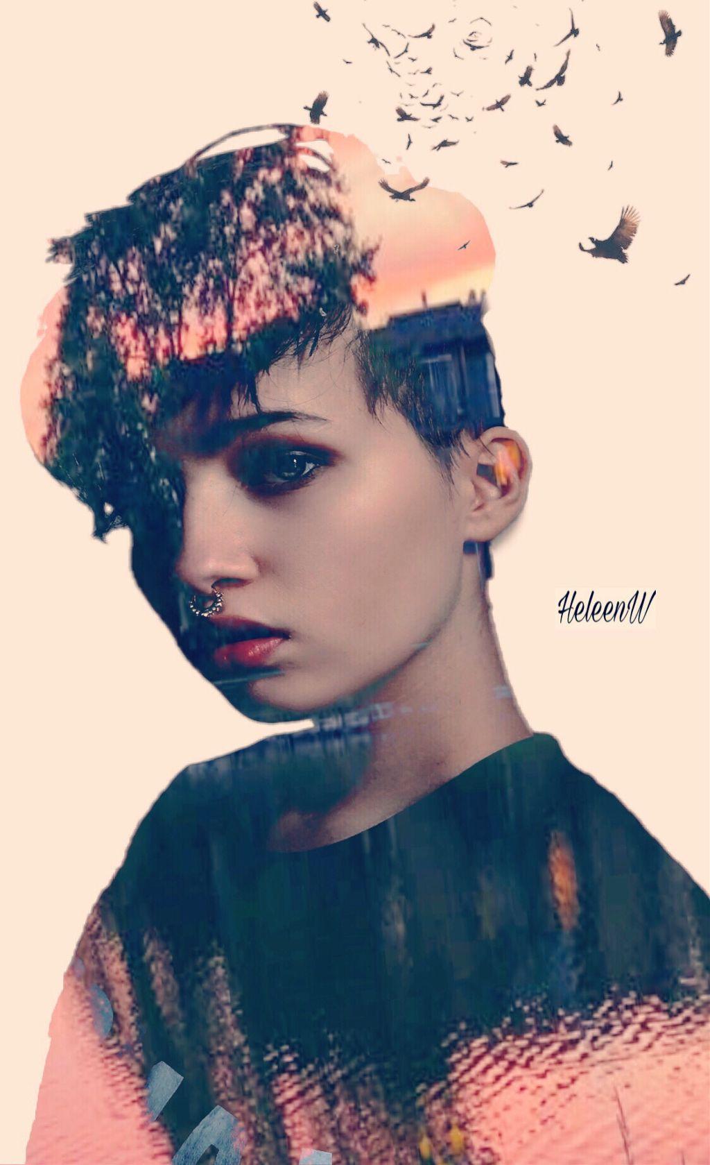 Colored lady #lady #colored #girl #doubleexposure #stickers #madewithpicsart #madebyme #myedit #mystyle #myart #freetoeditremix