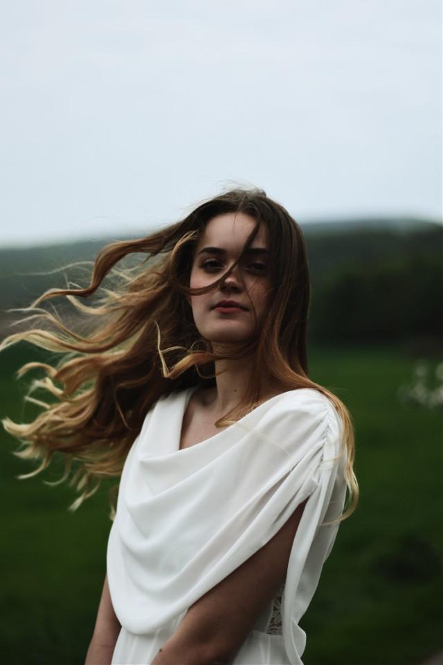 model: Katharina Bautz #portrait #photography #portraitphotography #hair #nature #landscape #model #shooting #whitedress #motion