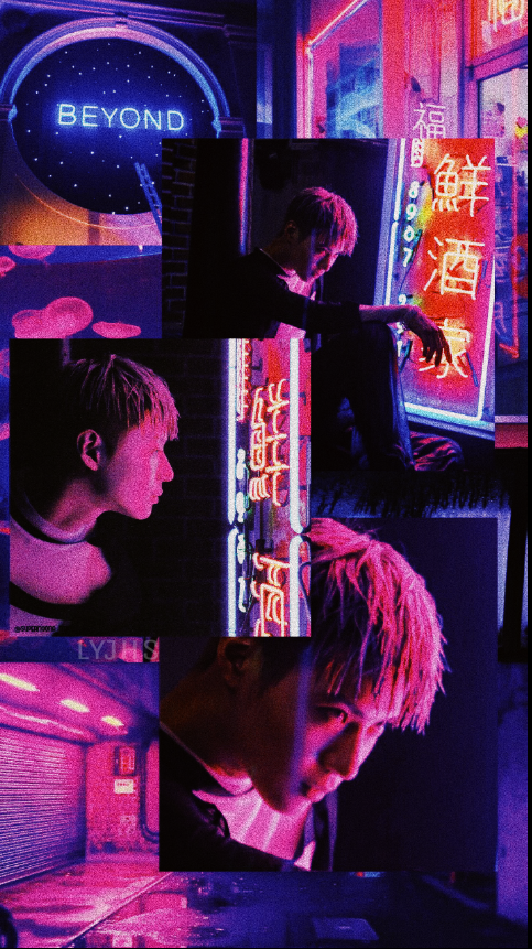 Taemin Shinee Move Kpop Korean Collage Wallpaper Neon