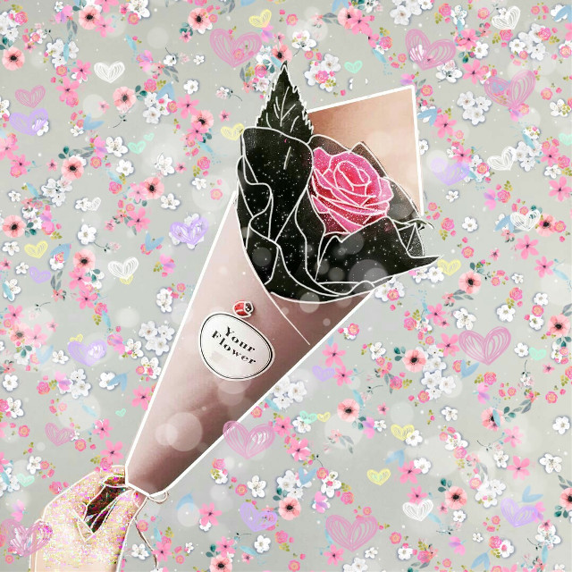 Sometimes the gift you always wanted for years is the person who gives you everything you need instead of giving you what you want.  Be thankful for the people who support you and love you for who YOU are.  #rose #remix #positive #sparkles #flowers #bouquetofflowers #pink #spring  #love #romance #freetoedit