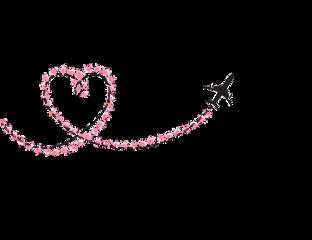 love plane heart pink origfte freetoedit