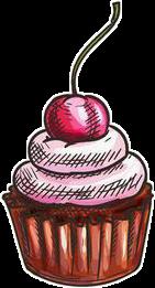 muffin cupcake cream strawberry cherry freetoedit