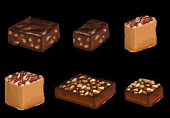 fudge brownie bar chocolate nuts