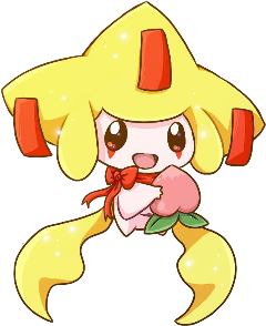 pokemon jirachi wish cute peach