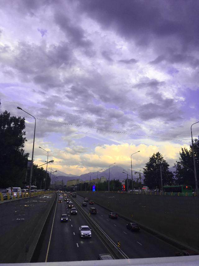 #nature #sky #sunset#almaty