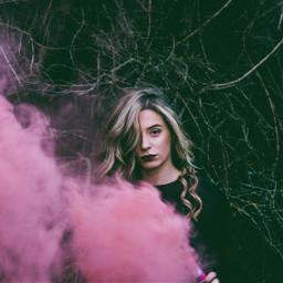 freetoedit girl girls pink smoke pinksmoke