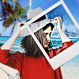 freetoedit sombreros playa beach efectos ircallinred