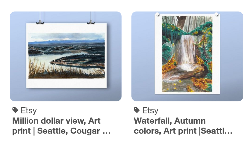 Hey folks. New prints in my shop zoeexiaoart.etsy.com. Come check it out if calming landscapes is your thing!  #freetoedit
