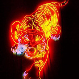 neonsigns freetoedit remixit tigerstyle tiger