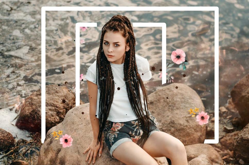 #freetoedit #girl #flowers#edit