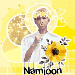 kimnamjoon rmbts rm yellow namjoon gclovekpop freetoedit