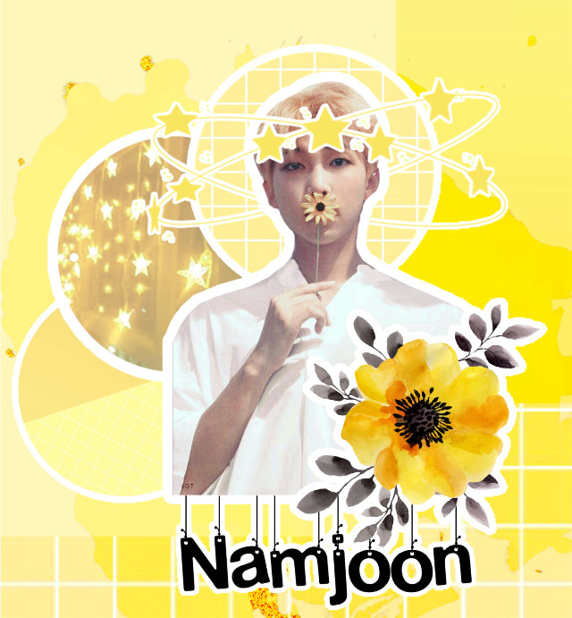 This took me so long but I'm proud #kimnamjoon #rmbts #rm #yellow #namjoon #yellowflower #bts #bangtanseonyeondan #kpop #freetoedit