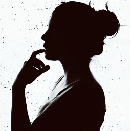 freetoedit woman silhoutte grunge scratches