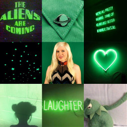 cybernova green colors youtuber space