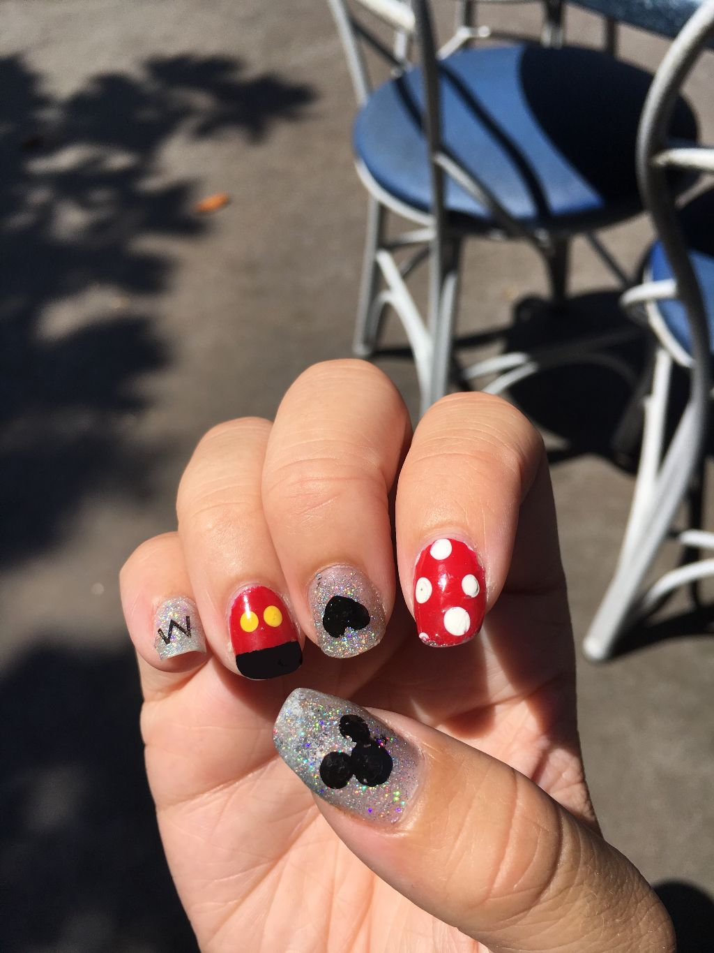 Disney Nailart Disneyland Mickey Minnie Mickeymouse Min