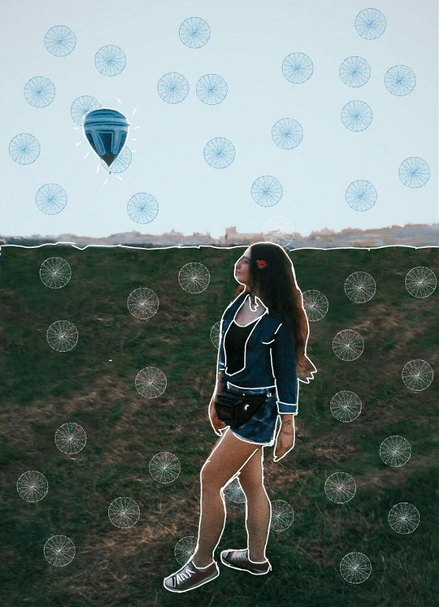 #freetoedit #remix #airballoon #sky #tattoo #rose