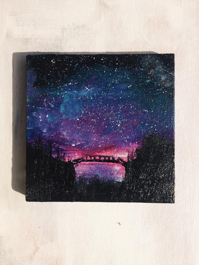 Follow my insta @lyssa.arts #freetoedit #remixit #interesting #art #stars #galaxy #painting #acrylic #artist #canvas #tiny #colorful #silhouette #pink #blue #instagram #oofffffffffffffffffffffffffffffffffffffffffff