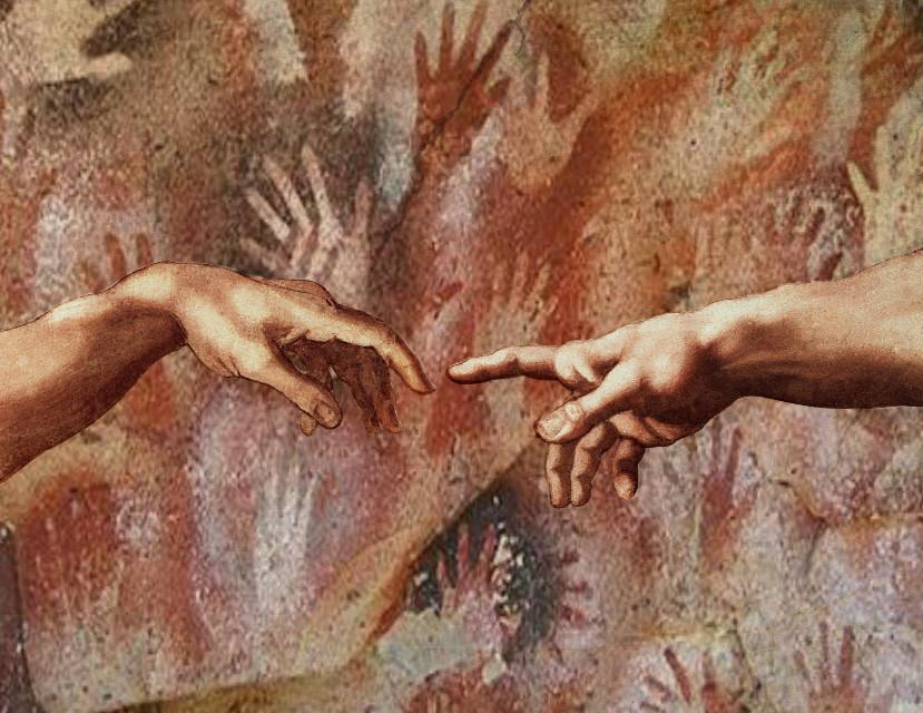 #freetoedit #primitivo #encontrodosnossosancestrais #ooutroeu #pinturahistorica #pinturarupestre #ocomeçodenos #evolucion #amor #quemsoueu #quemevoce