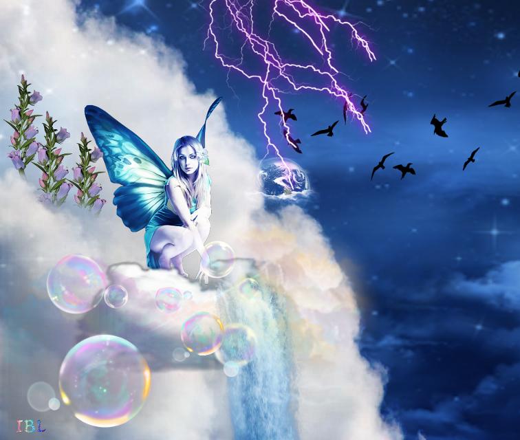 #freetoedit #fairy #galaxy #birds #cloud #raimbow #flowers #cascada #hada #galaxia #nube