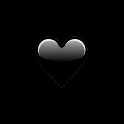 Heart Hearts Black Emoji Emojis Tumblr