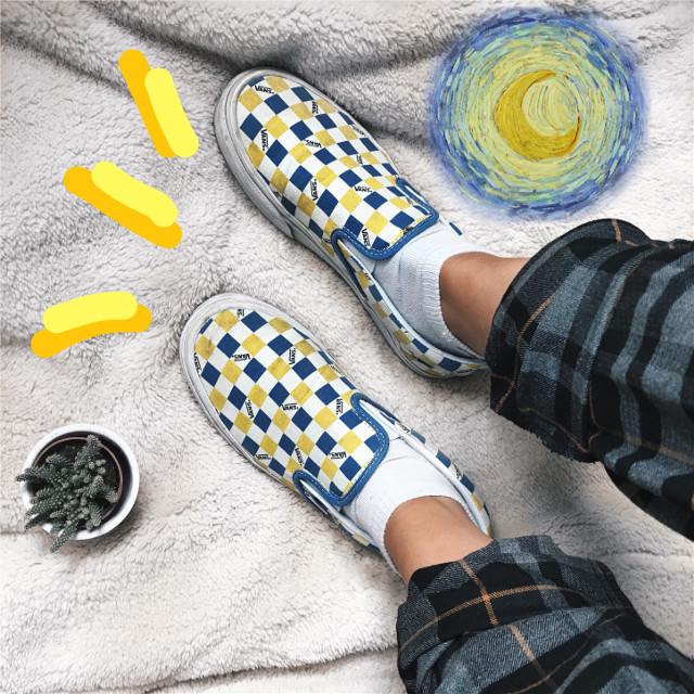 #freetoedit #nature #vangogh #vangoghart #arthoe #art #artsy #artaesthetic #arthoeaesthetic #aesthetic #aesthetictumblr #aestheticplants #yellow #yellowaesthetic #outfit #vans #checkeredvans