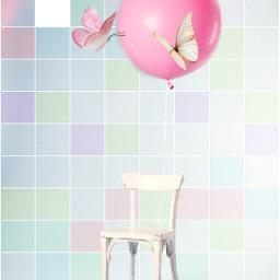 ircpinkballoon pinkballoon freetoedit butterfly balloon
