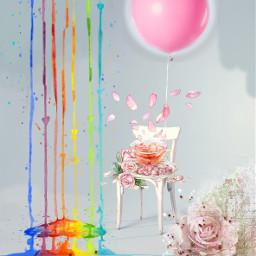 ircpinkballoon pinkballoon freetoedit flowers balloon