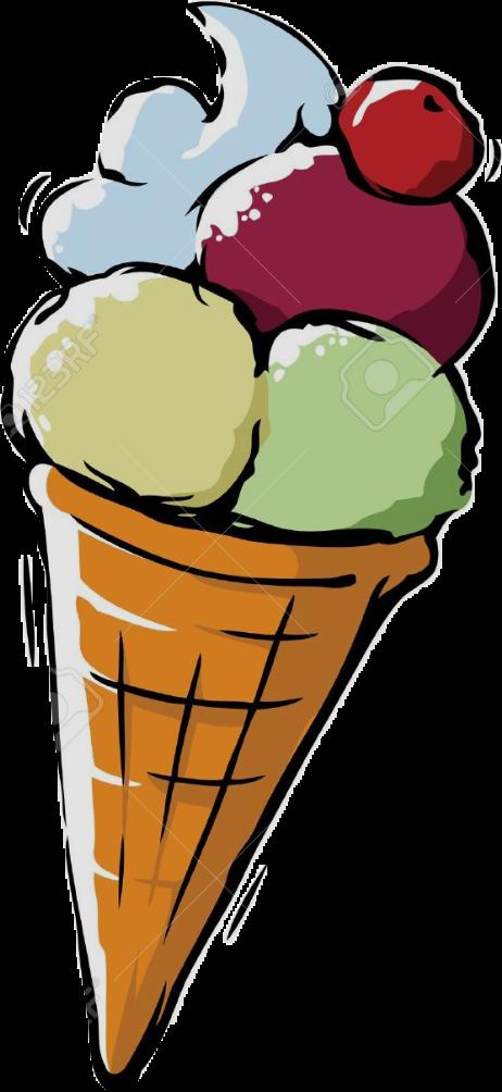 Cornet Glace Icecream Sticker By
