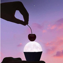 moon cupcake