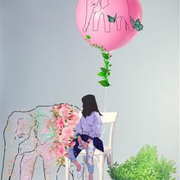ircpinkballoon pinkballoon freetoedit elephants balloon