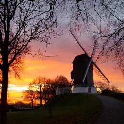 belgium brugge sunsetsky countrylife